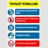 EF1395 - Tuvalet Kuralları Levhası