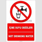 EF1413 - Türkçe İngilizce İçme Suyu Değildir, Not Drinking Water