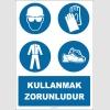 EF1455 - Baret, Gözlük, Eldiven, Giysi, Ayakkabı Kullanmak Zorunludur