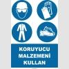 EF1456 - Koruyucu Malzemeni Kullan, Baret, Gözlük, Eldiven, Giysi, Ayakkabı