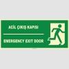 EF1458 - Türkçe İngilizce Acil Çıkış Kapısı, Emergency Exit Door