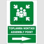 EF1493 - Türkçe İngilizce Toplanma Noktası, Assembly Point, Sağ Tarafta