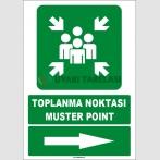 EF1495 - Türkçe İngilizce Toplanma Noktası, Muster Point, Sağ Tarafta